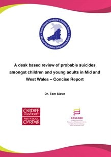 A desk-based review of probable suicides amongst children and young adults in Mid & West Wales - Concise Report?width=180&height=180&mode=crop